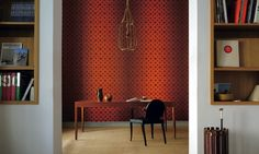 Elitis Cuirs Leather Louis XX.  Handbag inspired faux leather wallpaper.