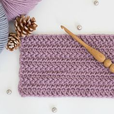 Learn how to crochet the beautifully slanted Herringbone Double Crochet Stitch with this easy tutorial! Perfect for all beginners!