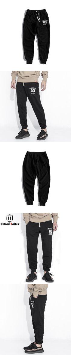 UrbanTailor Cotton Black Sweatpants Men Joggers Top Quality Casual Pants Male Long Pants Mens Black Trousers Brand Men Clothing