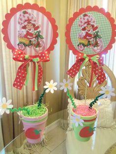 "Photo 2 of Vintage Strawberry Shortcake / Birthday ""Sesselee's Party"" Birthday Cupcakes, 2nd Birthday Parties, Birthday Party Decorations, Girl Birthday, Birthday Ideas, Husband Birthday, Strawberry Shortcake Birthday, Vintage Strawberry Shortcake, Ideas Party"