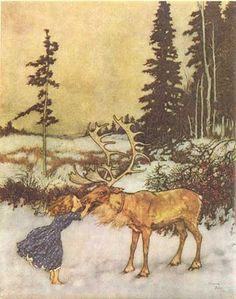 Snow Queen; Illustration by Edmund Dulac