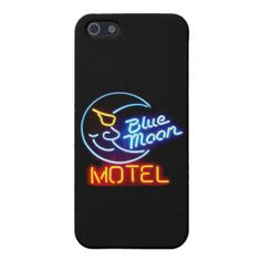 """""""Blue Moon Motel"""" Vintage Neon Signs iPhone 5/5s C Cover For iPhone 5"""