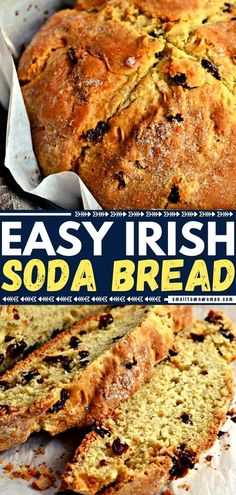 Sweet Loaf Recipe, Easy Irish Recipes, Yeast Free Breads, Yeast Bread, Irish Desserts, Irish Soda Bread Recipe, Recipes With Few Ingredients, Sweet Cakes, Side Dishes Easy