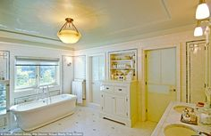 Vintage: The house dates all the way back to 1929 but has been significantly restored. Seen here is the master bathroom