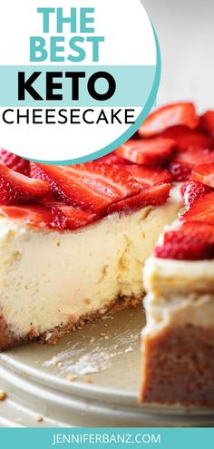 """This really is the best low carb and keto cheesecake recipe. Even my non-keto family proclaimed """"This is the best cheesecake I have ever had! Keto Desserts, Healthy Cheesecake Recipes, Keto Snacks, Dessert Recipes, Best Cheesecake, Jelly Recipes, Shake Recipes, Chili Recipes, Recipes Dinner"""
