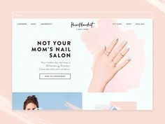 Nail Salon Homepage Concept by Do-Hee Kim Popular Website Design Inspiration, Website Design Layout, Homepage Design, Web Layout, Blog Design, App Design, Branding Design, Packaging Design, Cute Website