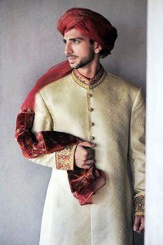Indian Groom Wear on Pinterest | Sherwani, Indian Groom and Groom Wear