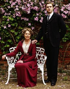 Mother and Son | More Downton Abbey photos here:  http://mylusciouslife.com/historical-style-downton-abbey-photos/