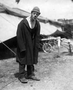 old clown in overcoat - Google Search
