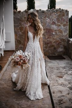 All-White Wedding – Textured Bridal Dresses – Galia Lahav The perfect wedding dress for an all-white wedding theme is a gown that's textured like our voluminous ballgown made of lace. Country Wedding Dresses, Modest Wedding Dresses, Perfect Wedding Dress, Bridal Dresses, Elegant Dresses, Wedding Dress Simple, Ballgown Wedding Dress, Romantic Wedding Dresses, Lace Wedding Gowns