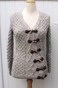 Gilet asymétrique femme Adeline - explications modèle tricot en français chez Makerist