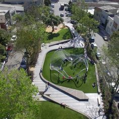 Parking design - South Park, San Francisco by Fletcher Studio « Landscape Architecture Works Landezine Park Landscape, Landscape Plans, Urban Landscape, Landscape Stairs, Landscape Timbers, Landscape Lighting, Landscaping Supplies, Modern Landscaping, Backyard Landscaping