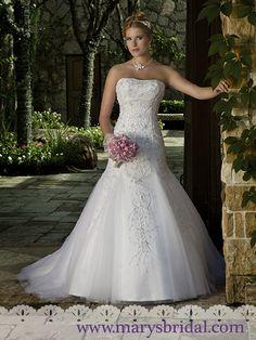 Mary's Bridal Ivory Tulle Fairy Tale Princess 6131 Feminine Wedding Dress Size 10 (M) Wedding Dress Trends, Wedding Dress Sizes, Perfect Wedding Dress, Bridal Wedding Dresses, Rhinestone Wedding Dresses, Dream Wedding, Wedding Ideas, Modest Wedding, Spring Wedding