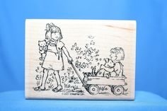 Girl Pulling Wagon With Girl 2001 Stamping Up! Wood & Foam Backed Rubber Stamp #StampingUp   http://HomeTownVintage.com/ After Christmas Clearance On All Our Stamps!! Lots of Vintage Scrap Booking Stamps From PSX (Personal Stamp Exchange), Hero Arts, Fearless Designs, Stampin Up!, DOTS and many more  Also Find us on:  http://hometownvintage.com http://autopartspuller.com @HomeTownVintage @autopartspuller @preppershowto http://facebook.com/hometownvtg http://facebook.com/AutoPartsPuller