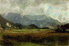 Impressionist Landscape, Landscape Paintings, Tatra Mountains, Siena, Anton, Canvas Art Prints, Hand Painted, Clouds, Sky
