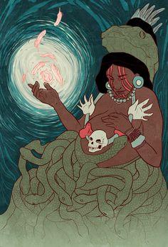 — alyssasketches: In Aztec mythology, Coatlicue...