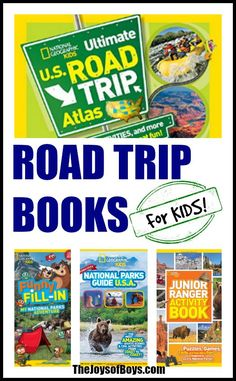 These road trip books for kids would be perfect for your next road trip.  They are full of interesting facts and games to keep kids entertained and learning while you drive.