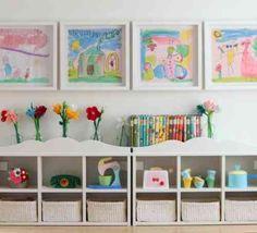 rangement de jouet et chambre d'enfant