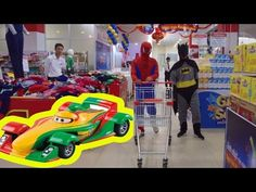 SPIDERMAN and BATMAN in the real life: Going to Supermarket | Spiderman ...