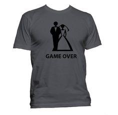 wedding t shirt tee shirt game over t shirt gift for newlyweds funny t shirt divorce wedding gag gift birthday gift idea 0551 b