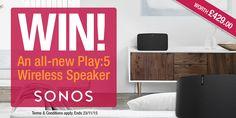 #Sonos Play:5 Wireless Speaker competition - Winner: Carol Edwards