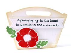 MFT Flower Box Die w/Pretty Poppies Stamp Set: THinkING STAMPS: Poppy Gift Set