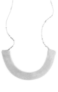 Collar statement necklace in SILVER