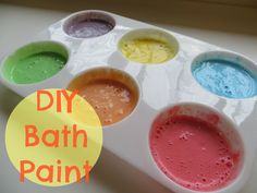 DIY Bath Paint  #play #art #homemade #DIY