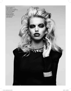 Daphne Groeneveld by Hedi Slimane for Vogue Russia (April 2012)