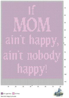 MOM AIN'T HAPPY by ACCALIA -- WALL HANGING