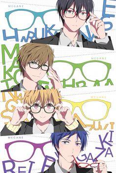 Free! ~~ Megane Iwatobi Boys :: Haruka, Makoto, Nagisa, and Rei <<< love them <3
