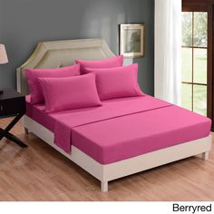 Honeymoon Deep Pocket Wrinkle Resistant 6-piece Bed Sheet Set King;;Full Sizes Available