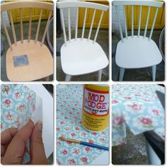 Tea Diary: Decoupaged Chair