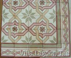 Old cement floor tiles