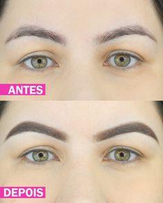 SOBRANCELHA ANTES E DEPOIS COM MAQUIAGEM - http://www.pausaparafeminices.com/tutorial-make/sobrancelha-antes-e-depois-com-maquiagem/
