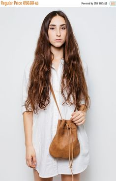 Leather Drawstring Bucket Bag | Bucket bags, Leather crossbody and ...