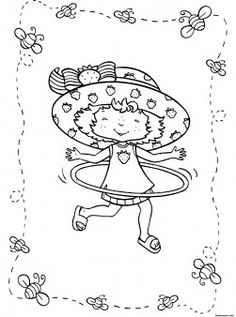 Printable Cartoon Strawberry Shortcake Coloring Pages For Girls Hula Hoophow To Draw Book Girlsdress Up Games