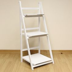 3 tier #white #ladder shelf #display unit free standing/folding book stand/shelve,  View more on the LINK: http://www.zeppy.io/product/gb/2/331738437384/