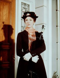 Julie Andrews Mary Poppins  Mary Poppins (Robert Stevenson, 1964).  Practically perfect in every way.
