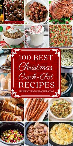 100 Best Christmas Recipes - Make Christmas dinner stress-free with these easy and delicious Crockpot Christmas recipes. There are recipes for Christmas appetizers, Christmas side dishes, main entrees, Christmas desserts, Christmas breakfast and more! Easy Christmas Dinner, Christmas Side Dishes, Christmas Breakfast, Christmas Appetizers, Holiday Dinner, Christmas Desserts, Christmas Parties, Christmas Treats, Christmas Time