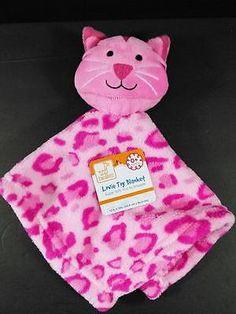 Hot Pink CAT Kitten Lovey & Security Blanket Fleece Leopard Swiggles NWT B416