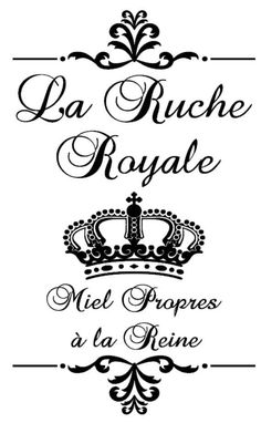 La Ruche Royale - French - The Royal Hive - 12x20 Vinyl Decal - Wall Decal - French Stencil -