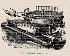 Vintage Machine Clip Art – Vintage Typing Machine Image – Typewriter Illustration – Machine Digital Stamp -Printable Graphic –commercial use