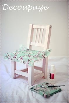 Decoupage chair with napkins