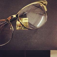 A Gold Browline // Linda Farrow Luxe Linda Farrow Sunglasses, Specs, Eyewear, Luxury, Gold, Style, Fashion, Swag, Moda