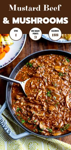 Low Syn Rich Mustard Beef with Mushrooms – the perfect meal for the whole family… – Pins Slimming World Minced Beef Recipes, Slimming World Beef, Slimming World Recipes Syn Free, Slimming Eats, Ground Beef Recipes, Beef And Mushroom Recipe, Mushroom Recipes, Meat Recipes, Healthy Recipes