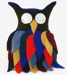 WAKE UP, MR. OWL !...........................Gratitude Treasury by Pat Peters on Etsy