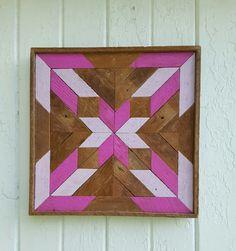 Diseño reclamado madera pared arte regalo Ideas chicas dormitorio Star y bloque decoración geométrica diseño de salvamento de madera Natural