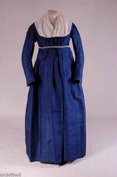 Dress, 1800-1810. :fantastic colour - lapis lazul