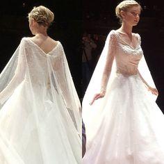 Of course everyone loves #Elsa  gown from the @disneyweddings collection by @alfredangelobridal!  #NYBFW #bridalmarket #bridalweek #bridalfashion #bridalfashionweek #weddingdress #bridalinspiration #disneyweddings #frozen